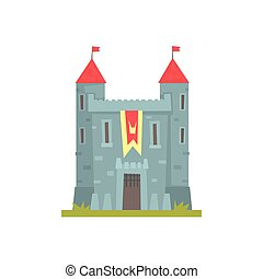 costruzione, torreggiare, pietra, antico, vecchio, illustrazione, vettore, architettura, castello