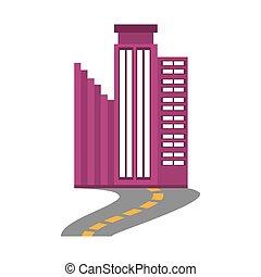 costruzione, trendy, affari, strada