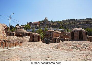 costruzione, turco, bagno