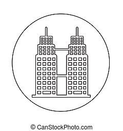 costruzione, ufficio, icona
