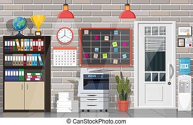 costruzione, ufficio interno