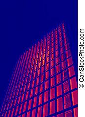 costruzione, ufficio, simulazione, termico, imaging, alto