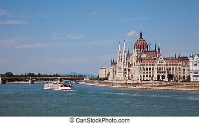 costruzione, ungheria, parlamento, budapest