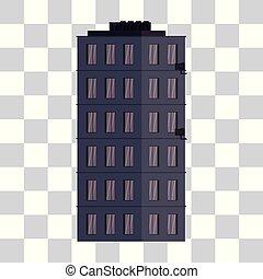 costruzione, urbano, isolato