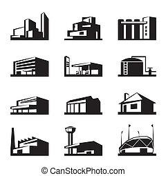 costruzione, vario, tipi