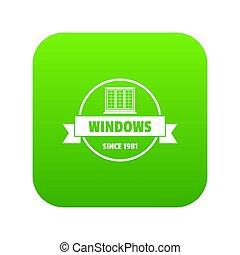 costruzione, verde, decotrative, icona