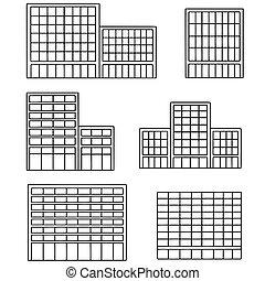 costruzione, vettore, set