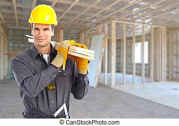costruzione, worker.