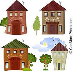 costruzioni, cartone animato, collezione