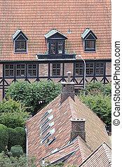costruzioni, helsingborg, vista elevata, vecchio