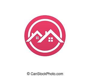 costruzioni, icone, casa, sagoma, logotipo, casa