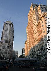 costruzioni, moderno, madrid, spagna