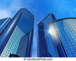 costruzioni, moderno, ufficio
