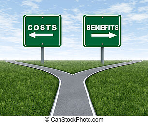 Costs and benefits dilemma at a cross road or forked highway...