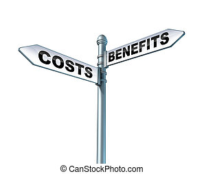 Costs Benefits Dilemma - Costs and benefits dilemma street...