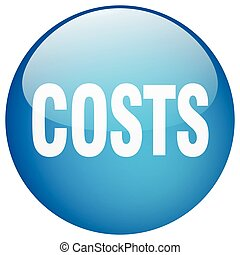 costs blue round gel isolated push button