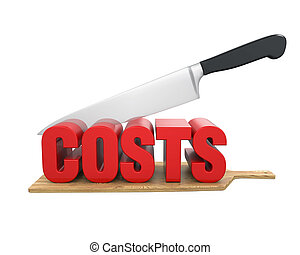 Costs Cuts Concept