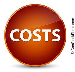 Costs elegant brown round button
