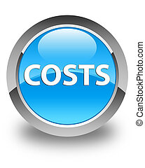 Costs glossy cyan blue round button