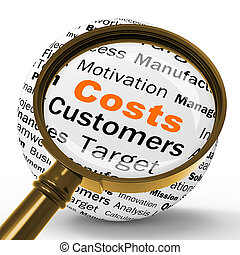 Costs Magnifier Definition Shows Financial Management Or Costs R