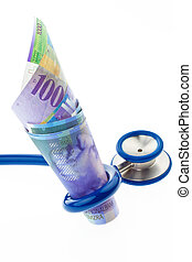 Costs of health with Swiss francs