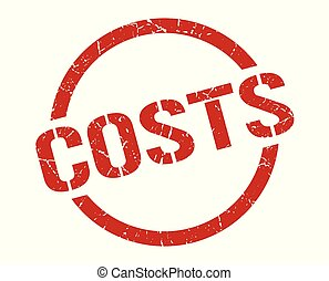costs stamp - costs red round stamp