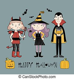 costume., 子供, ハロウィーン