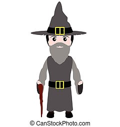 costume., 巫術師, 万圣節, 孩子