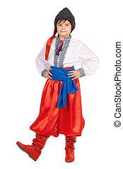 costume., 男の子, 国民, 隔離された, ウクライナ