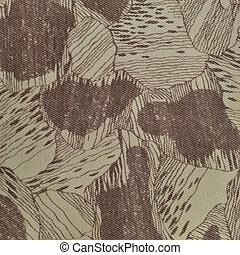 costume, camuflagem, textura, padrão, vertical, pálido, verde, bronzeado, taupe, marrom, textured, camo, fundo, antigas, envelhecido, resistido, algodão, twill, tecido, campo, trabalho, parka, bege, cáqui, grande, detalhado, macro, closeup