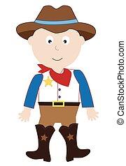 costume, cowboy