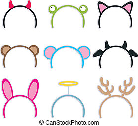 Costume Headbands Collection - Collection of nine cute and...