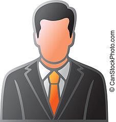 costume, homme, icône, utilisateur