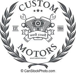 costume, motor, vetorial, t-shirt, impressão, desenho