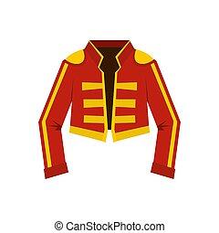 Costume of toreador icon, flat style - Costume of toreador...
