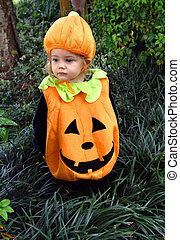Costumed as a Pumpkin