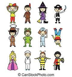 costumed children set