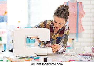 costurera, costura, estudio