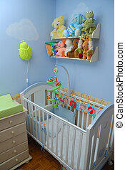 baby room - Cosy baby room with crib and toys