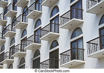 Cosy Balconies Of A Modern Building