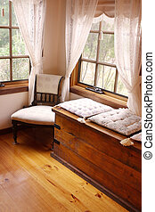 Cosy Corner - Cosy corner of a Victorian country cottage, ...