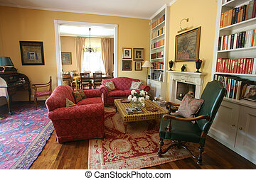cosy living room - Classic style living room with sofas and...