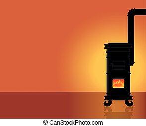 Cosy Warmth Heated Room Cast Iron Stove - Cosy warmth -...