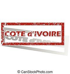 Cote d Ivoire outlined stamp