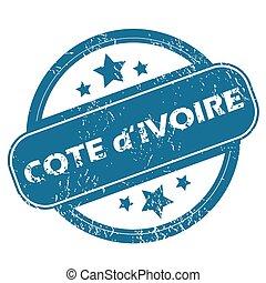 COTE D IVOIRE round stamp