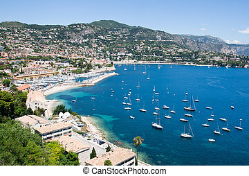 Cote d'Azur - France - Bay on the Cote d'Azur in Southern...