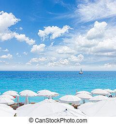 cote dAzur, France - turquiose water of cote dAzur over...