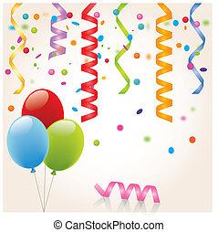 Cotillon-Serpentin-Ballon - Birthday, Anniversary, happy, ...