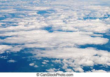coton, aimer, ciel nuageux