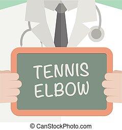 cotovelo, tênis, tábua